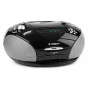 auna RCD220 Boombox Aparelhagem Portátil CD USB Cassete USB Rádio PLL FM MP3 2x2 W Preto