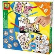 Детски комплект за рисуване SES, 080837
