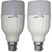 LED Bulb Pack of 2 Orbit 9 Watt White Bullet Series LED Bulb B22 Cap