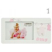 Fényképtartó Baby babaruhás 15x10cm-es képhez B1646 2féle - Fényképtartó