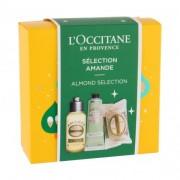 L´Occitane Almond (Amande) подаръчен комплект душ олио 75 ml + крем за ръце 30 ml + твърд сапун Delicious Soap 50 g за жени