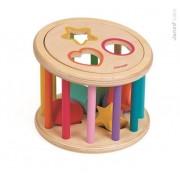 JANOD Sorter kształtów Kolory - drewniany sorter do turlania dla dzieci 18m+,