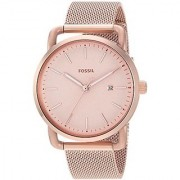 Fossil Analog Rose Gold Dial Womens Watch-ES4333