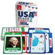 Kids USA Presidents and States Pocket Flash Cards - 95 Cards with Beautiful Images for Each State Bird, Flower, Flag, Tree and More - Educational Civics for Kids
