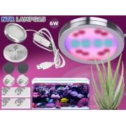 NTR LAMPG15 6W LED növény nevelő lámpa 450nm kék és 660nm piros LED-ekkel IP65 USB 5V DC