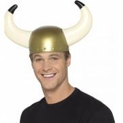 Smiffys Gouden viking helm voor volwassenen