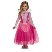 Disguise Aurora Deluxe Disney Princess Disfraz de Princesa durmiendo (Talla mediana/7-8)