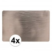 Geen 4x Leistenen hobby/knutsel onderleggers 44 x 29 cm