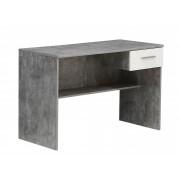 Forte Psací stůl HAMZA, beton/bílá