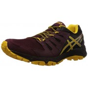 Asics Men's Gel-Fujiattack 4 Royal Burgundy, Spectra Yellow and Black Mesh Running Shoes - 7 UK