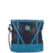 Lino Perros Women Casual Blue PU Sling Bag