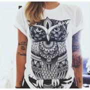 Dievčenské tričko so sovou