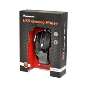 MOUSE OPTICO ALAMBRICO PREMIERTEK GM-702 USB NEGRO PC/GAMER