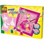 Детски комплект за оцветяване, Принцеси, SES, 080616