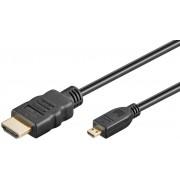 Goobay MicroHDMI till HDMI-kabel ( 1 meter )