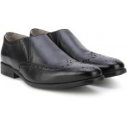 Clarks Amieson Slip Black Leather Lace Up For Men(Black)