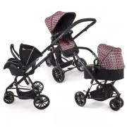 Бебешка количка KinderKraft Trend 3 в 1 - виолетов