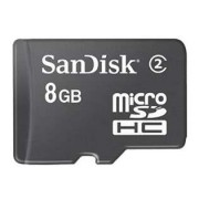 8GB SanDisk MicroSDHC Memory Card with Adapter - HTC Micro SD