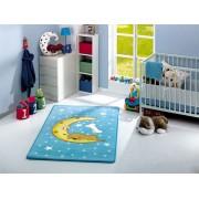 Covor pentru copii 100x160cm Moon Blue