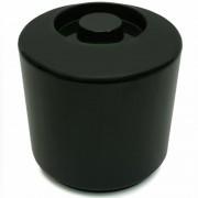 Duplafalú műanyag jégvödör fekete 4L