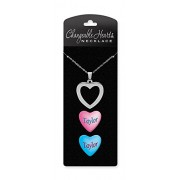 "Dimension 9 Changeable Hearts Personalized Heart Pendant Necklace -Taylor, 18"" Chain"
