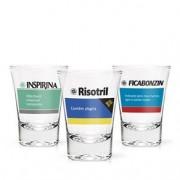 Copos de Tequila Shot Remedios da Farmacia - 3 pecas