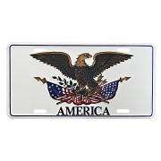 Cedule plechová Licence Eagle America