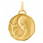 Trabbia Vuillermoz Medaille Vierge de Profil en Or Jaune 750 (17mm) - Bijoux Enfant