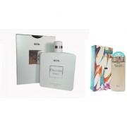 Riya Chevalier nair blanc Eau de Parfum 100 ml Riya Melody Perfume 30 ml (For Men Women)