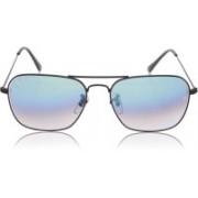 Resist Retro Square Sunglasses(Black, Blue)