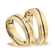Zlatý snubní prsten GEMS EXCELENT, 503_504 z bílého a žlutého zlata