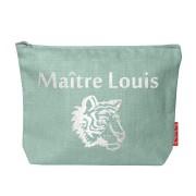 Pochette personnalisée en lin - cadeau maitresse - maître - nounou