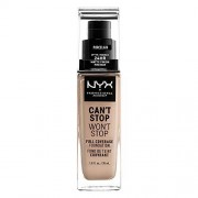 NYX PROFESSIONAL MAKEUP Base Maquillaje Liquida Can't Stop Won't Stop, Tono Porcelain