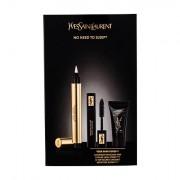Yves Saint Laurent Touche Éclat tonalità No.1 confezione regalo corretore illuminante 2,5 ml + mascara 2 ml Black + crema idratante illuminante 5 ml
