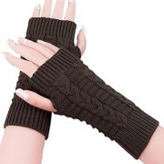 Nandini New Women Ladies Winter Warm Knitted Fingerless Gloves Hand Wrist Warmer Mitten