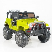 12V MP3 Kids Ride on Jeep Car R/C Remote Control, Lights Radio and Tunes - Green