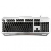 White Shark Tastiera Gaming Gladiator USB Nero / Silver