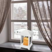 Elemes LED időzíthető világító lámpás fehér 25 cm