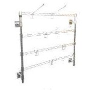 Socepi Scaffalidea - Espositore in acciaio da parete modulabile e regolabile dimensioni 60xh78 N. Ganci da 13 cm 12