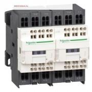 Forgásirányváltó magneskapcsoló, 7,5kW/18A (400V, AC3), 230V AC 50/60 Hz vezerlés, 1Z+1Ny, rugós csatlakozás, TeSys D (Schneider LC2D183P7)