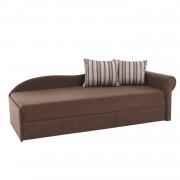 Kanapé ágyfunkcióval, barna, jobb oldali kivitel, AGA D