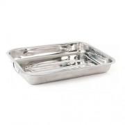 Tava cuptor inox cu 2 manere, 40 x 30 x 24 cm, Vanora