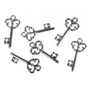 Rayher hobby materialen Acryl huis sleuteltjes 2,3 cm