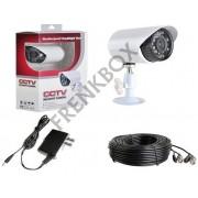 Telecamera videosorveglianza CCD 3,6mm infrarossi 24LED 700TVL con cavo 18mt
