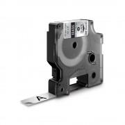 Etichete industriale autocolante DYMO ID1 poliester permanent 12mm x 5.5m negru argintiu metalizat 18486