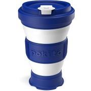 POKITO Összehajtható kávésbögre 3 az 1-ben áfonyakék