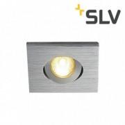 SLV Lumière encastré orientable Kit TRIA MINI LED carré Alu brossé - SLV 114406