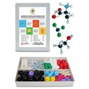 Molecular Model Kit Organic & Inorganic Chemistry Set by Dalton Labs - Advanced Teacher's Edition Educational Molecule Set - Color Coded Atoms, Bonds, Orbitals - Science Toys for Teaching Molecules