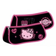 Penar etui triunghiular Hello Kitty negru