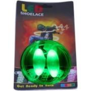 Trendzino ™ Light Up Neon LED Shoelaces Flash Party Disco Glow Shoe Laces Shoe Care Strings Shoe Lace(Green Set of 2)